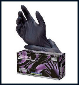 Adenna Shadow Black Nitrile Powder-Free Exam Gloves