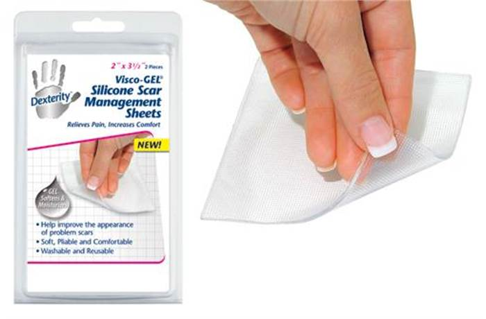 Dexterity™ Visco-GEL® Silicone Scar Management Sheets  (Clear Top Cover)