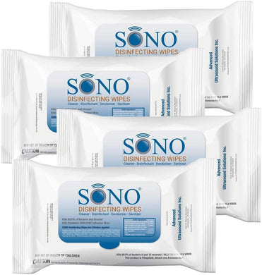 SONO Wipes Travel Size Medical Grade Disinfecting 20 Counts Wipes (4 Packs)