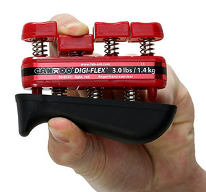 CanDo® Digi-Flex® hand exerciser - Red, light - Finger (3.0 lb) / hand (10.0 lb)