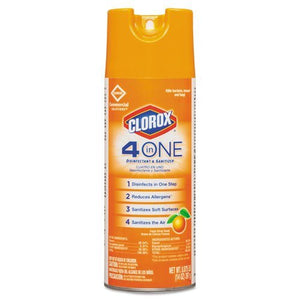 Clorox 4-in-One Disinfectant & Sanitizer, Fresh Citrus, 14oz Aerosol