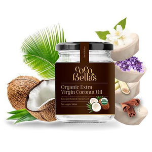 Cocobella's 230ml Raw Organic Extra Virgin Coconut Oil - Centrifuge Extracted + FREE SCRUB