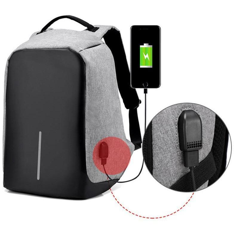BACKPACK WITH ANTI-THEFT POCKETS