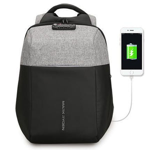 NEW ANTI-THEFT USB RECHARGING BACKPACK