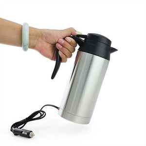 STAINLESS STEEL TRAVEL KETTLE (PLUGS INTO YOUR CAR'S 12V SOCKET)
