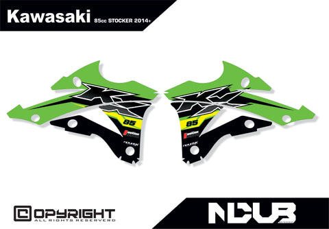 KAWASAKI KX85 STOCKER SHROUD KIT