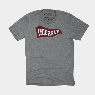 College GANG Cropped Tailgate Tee Indiana University FREE SHIPPING