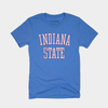 Retro Indiana State Blue and Red Tee