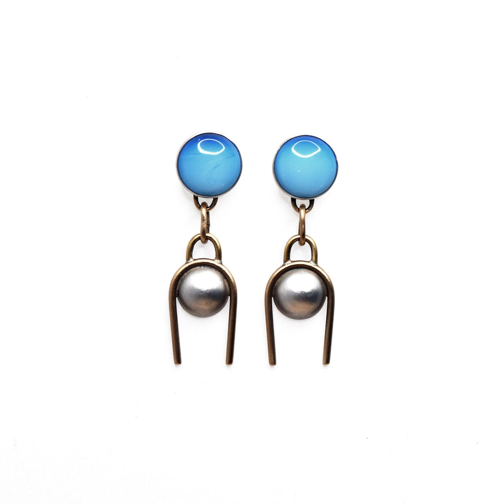 Opalite Moon Earrings