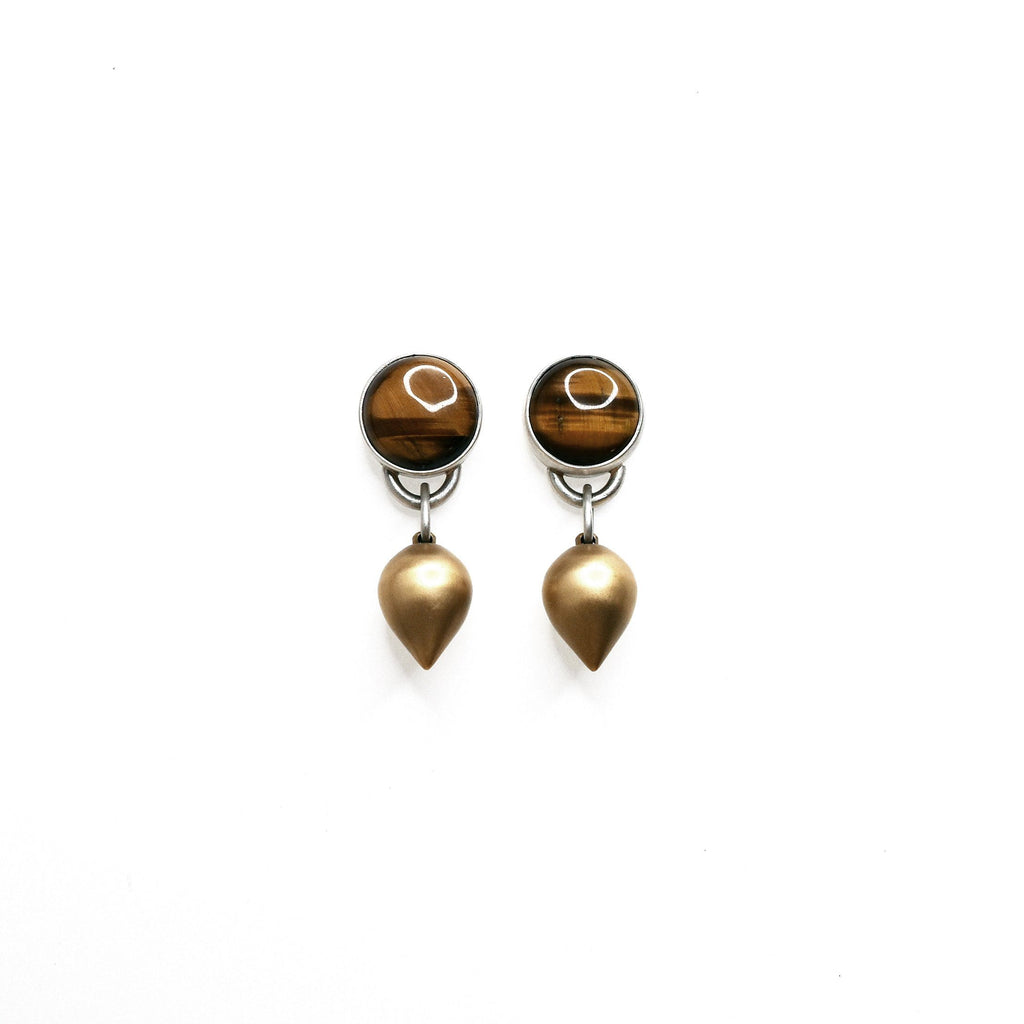 Tiger Eye Drop + Earrings