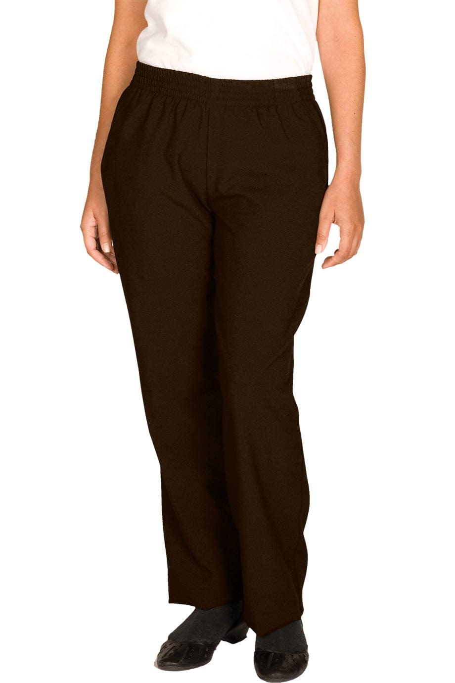 Brown Polyester Women's Housekeeping Pant