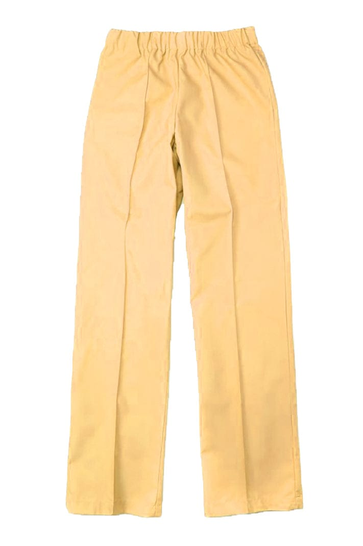Women's Gold Elastic Waistband Poplin Housekeeping Pants