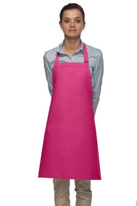 Hot Pink No Pocket Adjustable Bib Apron