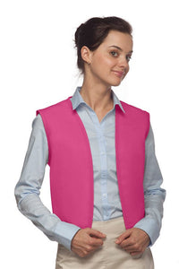 Hot Pink No Pocket Unisex Vest with No Buttons