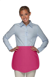 Hot Pink Scalloped Waist Apron