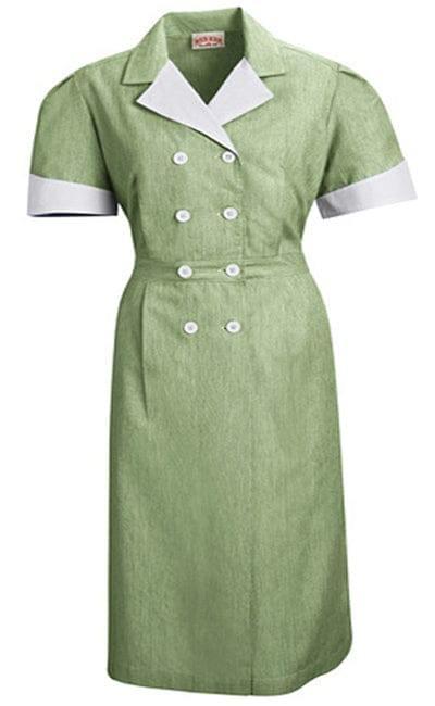 Hunter Pincord Double-Breasted Housekeeping Dress