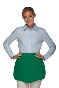 Hunter Green Scalloped Waist Apron
