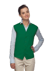 Kelly 4-Button Unisex Vest with 1 Pocket