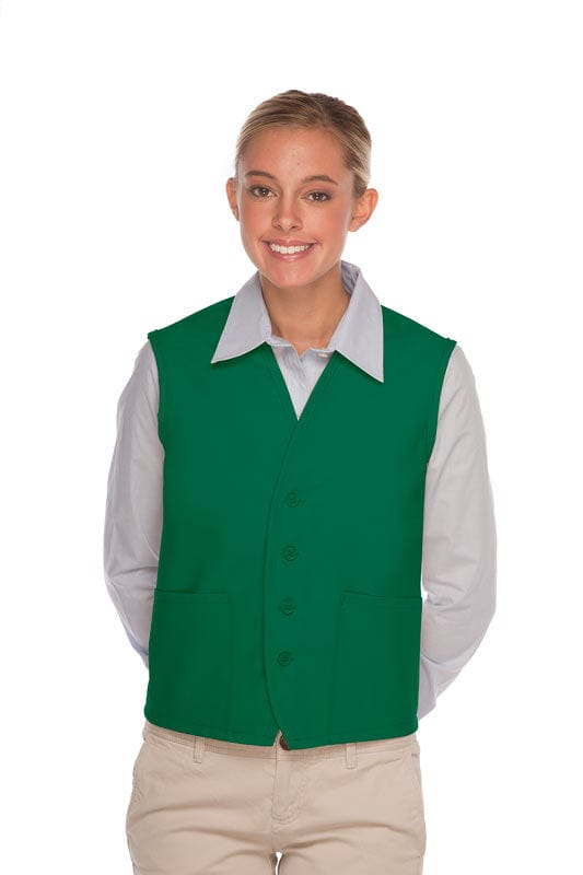 Kelly 4-Button Unisex Vest with 2 Pockets