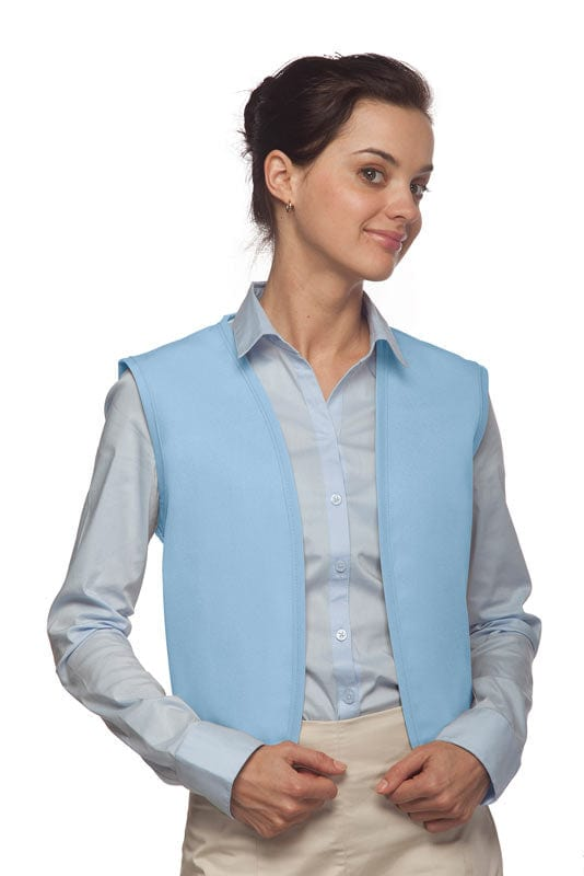 Light Blue No Pocket Unisex Vest with No Buttons