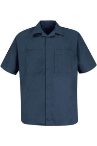 Navy Men's Convertible Collar Shirt Jacket