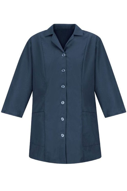Navy Women's Smock Fitted Adjustable 3/4 Sleeve