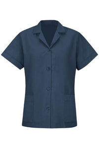 Navy Women's Smock Loose Fit Short Sleeve