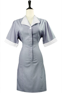 Navy Junior Cord Housekeeping Dress