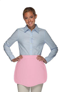 Pink Scalloped Waist Apron