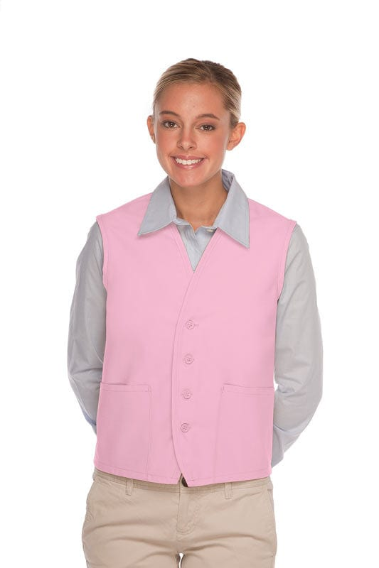 Pink 4-Button Unisex Vest with 2 Pockets