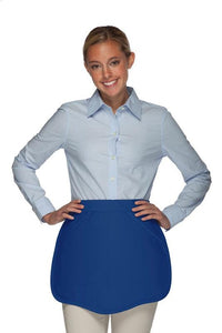 Royal Blue Scalloped Waist Apron