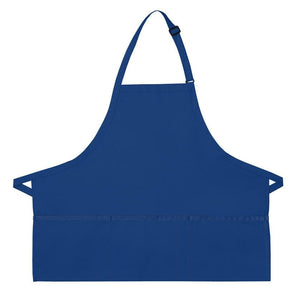 Royal Blue XL 3-Pocket Bib Apron