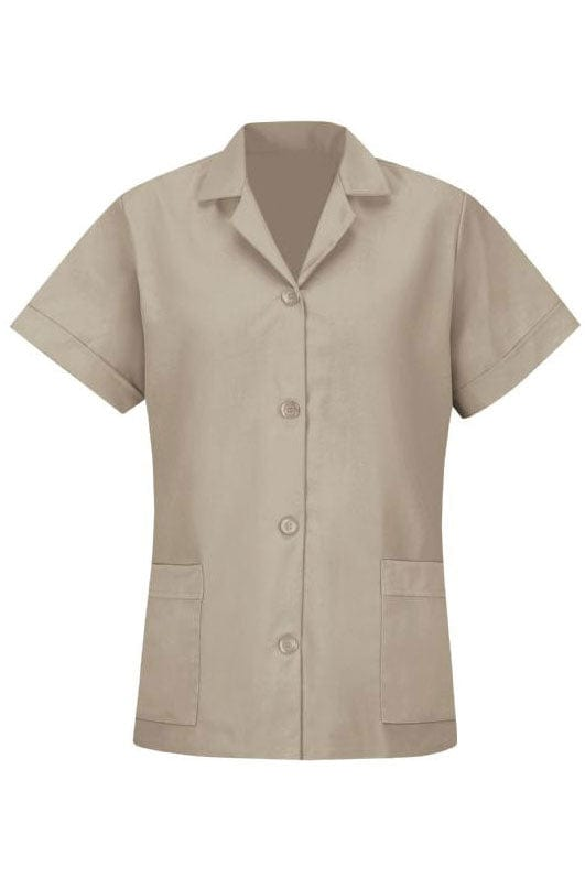 Tan Women's Smock Loose Fit Short Sleeve