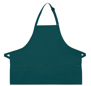 Teal XL 3-Pocket Bib Apron