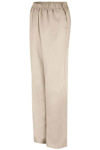 Tan Pincord Women's Housekeeping Slacks