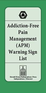 Addiction-Free Pain Management Warning Sign List