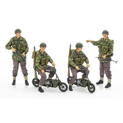 Tamiya 1/35 British Paratroopers w/Small Motorcycles Kit