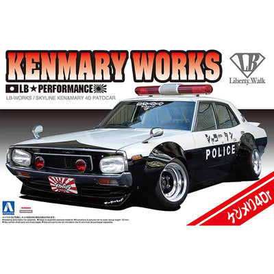Aoshima 1/24 LB-Works Skyline Kenmary Works 4Dr Patrol Car Kit