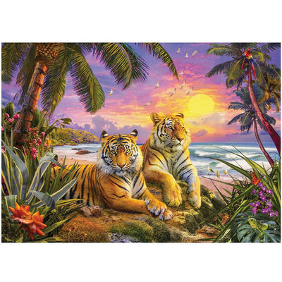 Tropical Tiger Sunset 1000pc Puzzle