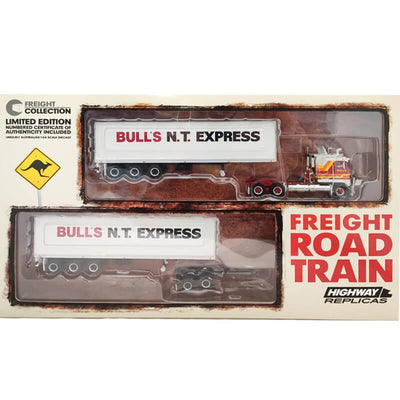 Highway Replicas 1/64 Freight Road Train Bulls N.T.