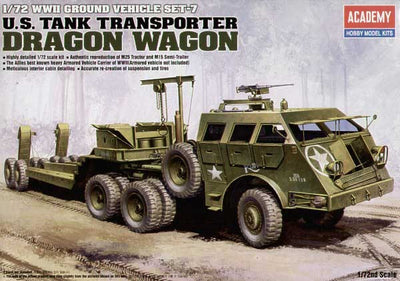 Academy 1/72 U.S Tank Transporter Dragon Wagon Kit