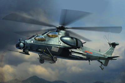 HobbyBoss 1/72 Chinese Z-10 Attack Helicopter Kit HB-87253