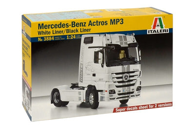 Italeri 1/24 Mercedes-Benz Actros MP3 White Liner/Black Liner Kit ITA-03884