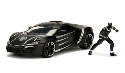 Jada 1/24 Black Panther & Lykan HyperSport Movie Hollywood Rides
