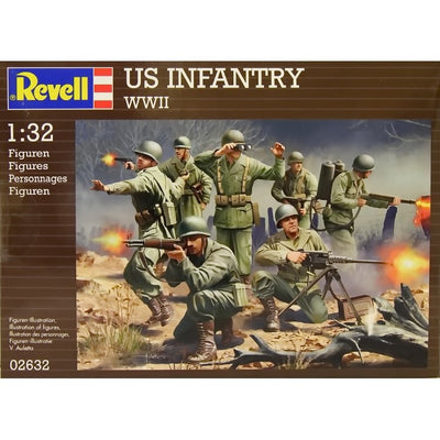 Revell 1/32 US Infantry WWII Kit 95-02632