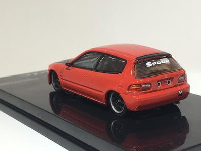 Tarmac Works 1/64 Honda Civic EG6 Gr.A Racing Red with Black bonnet T-12-RE