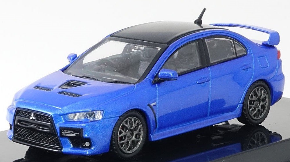 Tarmac Works 1:64 Mitsubishi LANCER Evo X Final Edition Blue T64-004-BL