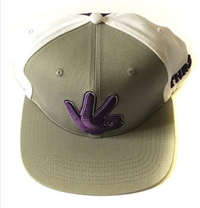 THR33Z BASEBALL HAT PURPLE&GREY