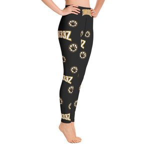 THR33Z BLACK & GOLD Yoga Leggings