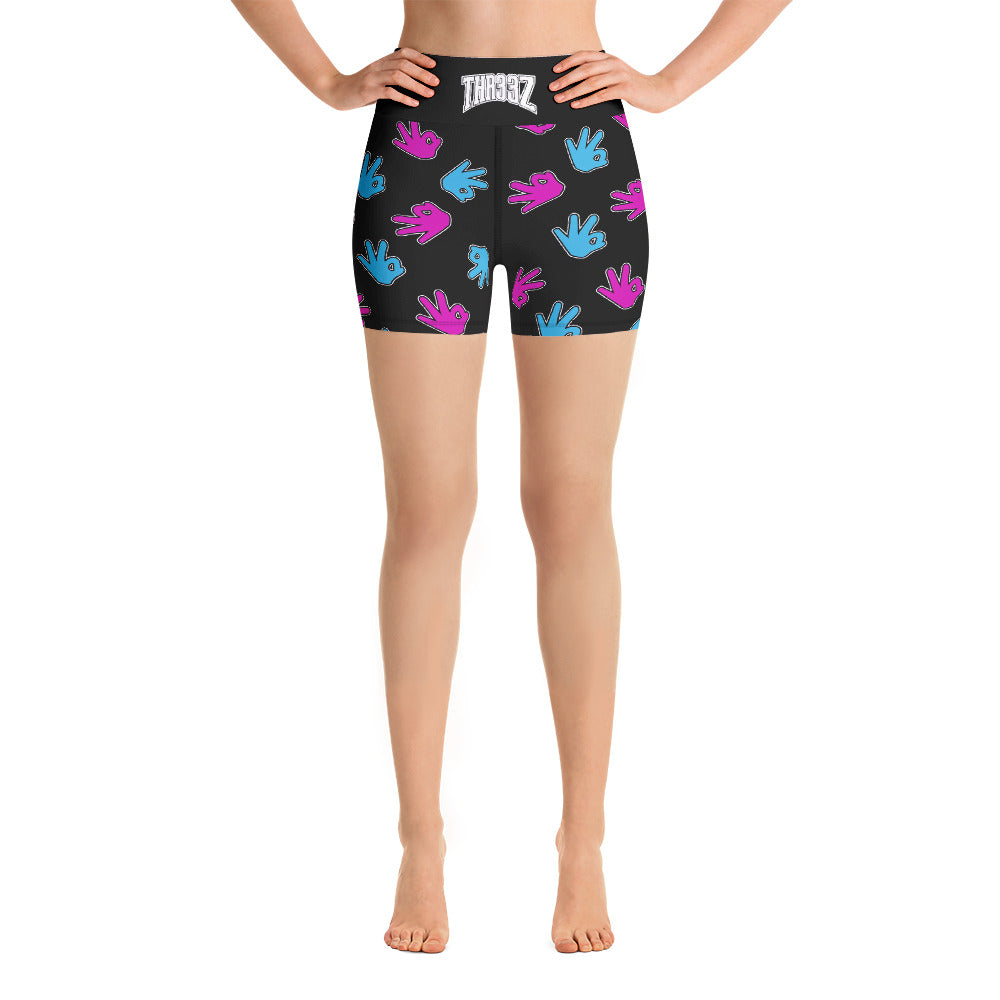 THR33Z Women Yoga Shorts